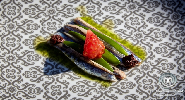 Masterchef Celebrity 5: Anchoa fresca, tirabeques, semillas de tomate y tapenade