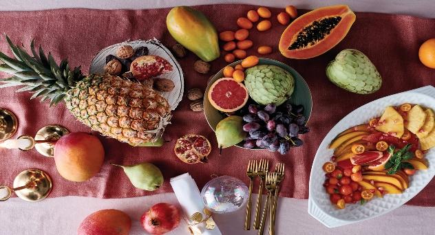 Productos frescos para navidad, Frutas