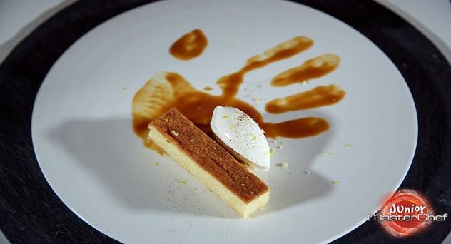 Masterchef Junior 8: Sobao con helado de leche merengada y toffee