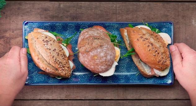 Bocadillo saludable en pan de semilla con Bimi®