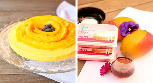 Cheesecake de mango por Marta Verona