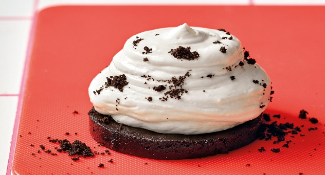 Crema de chocolate y galletas