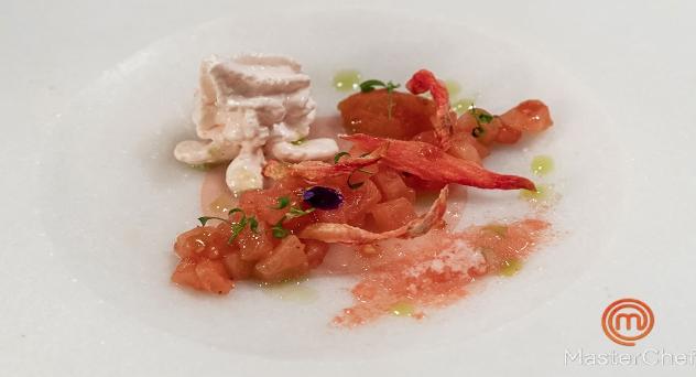 Masterchef 9: Ensalada de tomate en texturas