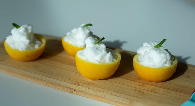 Mousse de limón ideal para niños